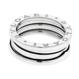 Bulgari B.Zero 1 18K White Gold 3 Band Ring Size 4.75