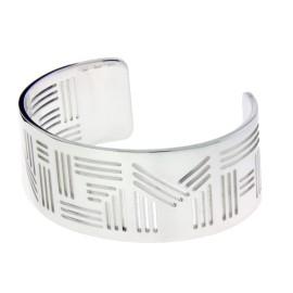 Bulgari Enigma By Bulgari Sterling Silver Bangle Bracelet
