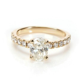 GIA Certified Diamond Engagement Ring in 14K Yellow Gold