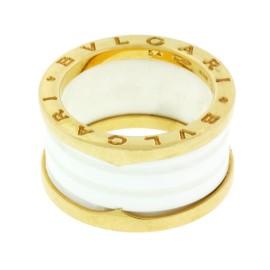 Bvlgari 18K Rose Gold Ceramic Ring Size 10.5