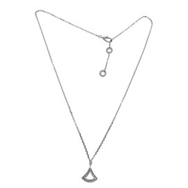 Bulgari 18K White Gold Diamond Pendant