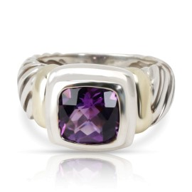 David Yurman Noblesse Ring with Amethyst  in 18K Yellow Gold/Sterling Silver