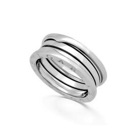 Bulgari Zero1 18K White Gold Band Ring Size 5.75