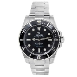 Rolex Submariner Stainless Steel Oyster Automatic Black Men's Watch 114060