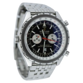 Breitling Chronomatic A41360 Chronograph Black Dial Mens Watch