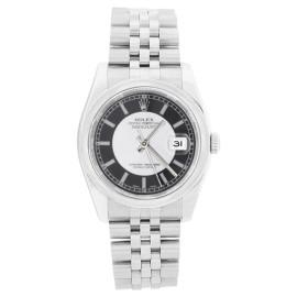 Rolex Datejust 116200SBKSJ Stainless Steel Black Tuxedo Dial Smooth Bezel Mens Watch