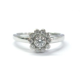 Tiffany & Co. Platinum Diamond Flower Ring