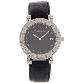 Tiffany & Co. Atlas Stainless Steel Diamonds Womens Watch