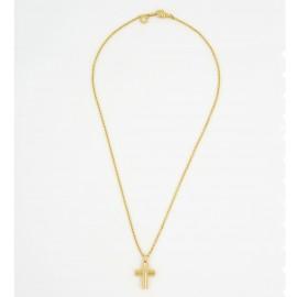 Bulgari 18K Yellow Gold Cross On Chain Necklace