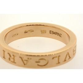 Bulgari Bvlgari 18k Rose Gold Diamond Band Ring Signature size 7.75