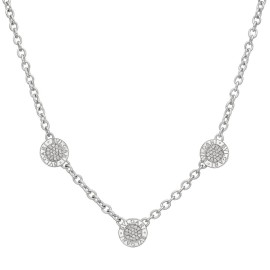 Bulgari Reversible 18K White Gold with 0.60ctw Diamond and Onyx 3 Circle Necklace