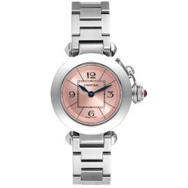 Cartier Miss Pasha Steel Pink Dial Quartz Ladies Watch W3140008