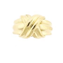 Tiffany & Co. 18K Yellow Gold Signature Ring Sz 6