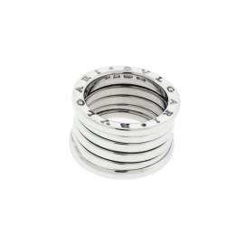 Bulgari B. Zero 1 18K White Gold 5 Band Ring Size 5.5