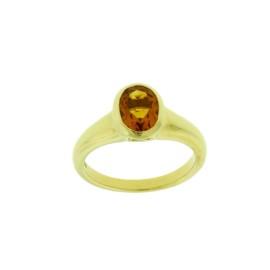 Bvlgari 18K Yellow Gold Citrine Ring Size 6.25