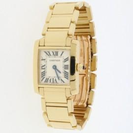 Cartier Tank Francaise 18K Yellow Gold 20MM Roman Dial Ladies Watch W50002N2