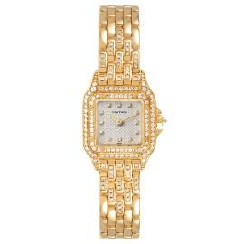 Cartier Panthere 18k Yellow Gold Diamonds Ladies Watch