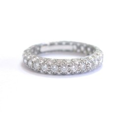 Tiffany & Co Platinum Row Diamond Band Ring