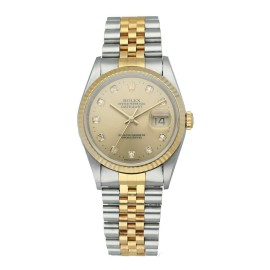 Rolex Datejust 16233 Diamond Dial Mens Watch Box Papers