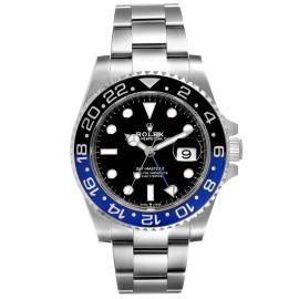 Rolex GMT Master II Black Blue Batman Steel Mens Watch 126710