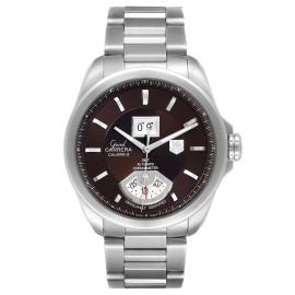 Tag Heuer Grand Carrera Grand Date GMT Brown Dial Watch WAV5113