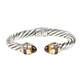 David Yurman 925 Sterling Silver and 14K Yellow Gold with Citrine