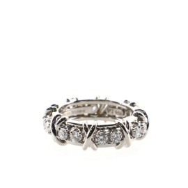 Tiffany & Co. Schlumberger Sixteen Stone Ring Platinum with Diamonds 6.5
