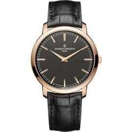Vacheron Constantin Traditionnelle 43075/000R-B404 18K Rose Gold with Black Dial Automatic 41mm Mens Watch