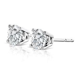 Jewelili 2ct 14k White Gold IJ I1 Diamond Earrings Studs