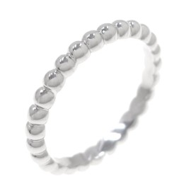 Van Cleef & Arpels Alhambra 18K White Gold Ring Size 8.25