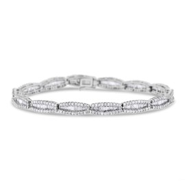 18k White Gold 6.05ct. Diamond Baguette Bracelet