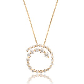 Le Vian Certified Pre-Owned Precious Stones 14K Honey Gold Necklace