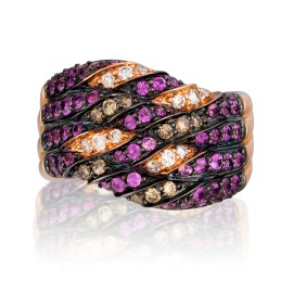 Le Vian Certified Pre-Owned Chocolatier Precious Stones 14k Strawberry Gold Ring