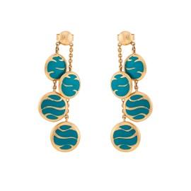 Le Vian Certified Pre-Owned Blue Enamel Earrings