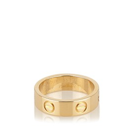 Cartier Love Yellow Gold Ring Size 6.25