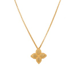Roberto Coin 18K Yellow Gold Princess Flower Pendant Necklace