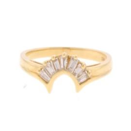 14K Yellow Gold & .51 ct Diamond Ring Size 6.75