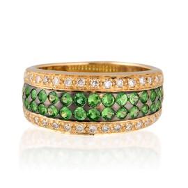 Le Vian Certified Pre-Owned Tsavorite 14K Honey Gold Ring