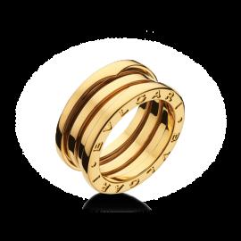 Bvlgari Bulgari B. Zero 1 18K Yellow Gold 3 Band AN191023 Ring