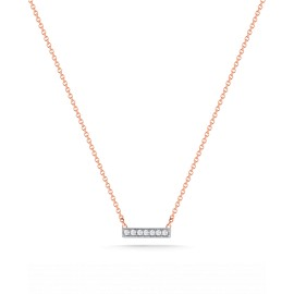 Sylvie Rose Rose and White Gold Mini Bar Necklace