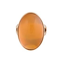 18K Rose Gold Fire Opal Yola Ring