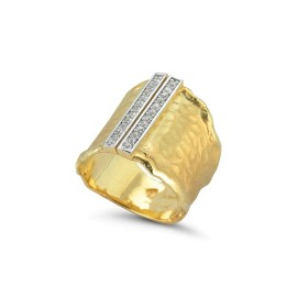 I.Reiss 14K Yellow Gold 0.25 Ring Size 7