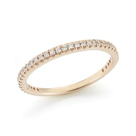 I.Reiss 14K Rose Gold 0.25 Ring Size 7