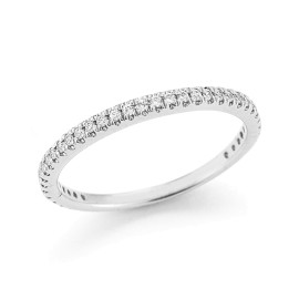 I.Reiss 14K White Gold 0.25 Ring Size 7