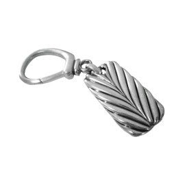David Yurman .925 Sterling Silver Chevron Key Chain Key Fob