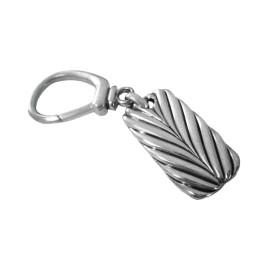 David Yurman .925 Sterling Silver Chevron Key Chain Key Fob