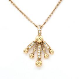 Bulgari 18K Yellow Gold with 2.25ct Diamond Vintage Necklace