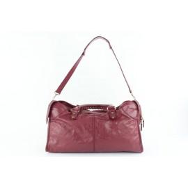 Balenciaga Giant The Part Time City 2way 14balz0914 Dark Pink Leather Weekend/Travel Bag