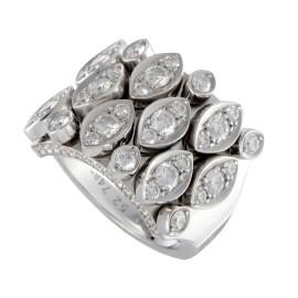 Cartier Diadea 18K White Gold Diamond Pave Band Ring