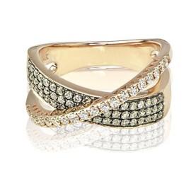 14k Rose Gold 0.68ct Diamond Ring Size 7